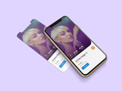 Profile Card Design ui profile clean