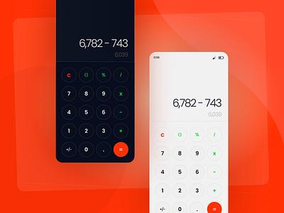 Calculator light dark ui clean calculator