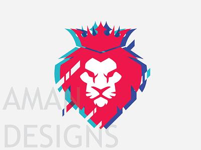 Fifa19 inspired Lion Logo logo glitch lion