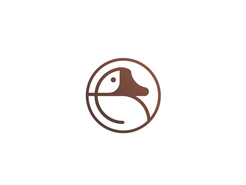 Mallard gradient animal signet logotype mark circle logo duck mallard