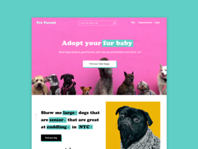 Pet Parent Landing Page