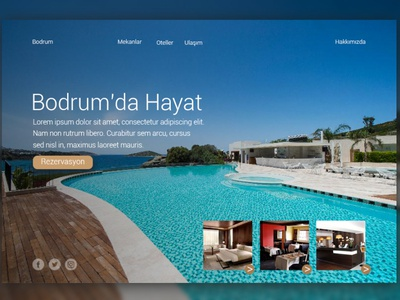 Website for Hotels desktop landing page html front-end development mobile website responsive css travel holliday hostel motel hotel
