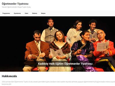 Öğretmenler Tiyatrosu bootstrap landing page design desktop html front-end development mobile website responsive css wordpress theater website theater
