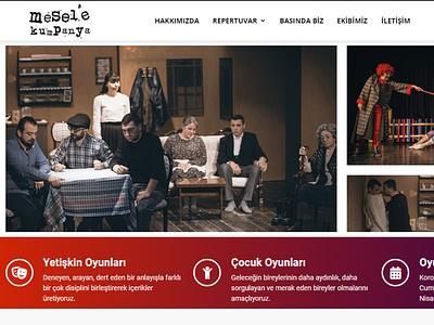 Mesele Kumpanya Teatre wordpress bootstrap desktop landing page html front-end development mobile website responsive css