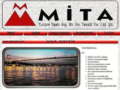 Mita Construction design website mobile responsive business front-end development construction css html