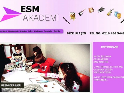 Esm Academy art school music responsive bootstrap landign page front-end development website css html