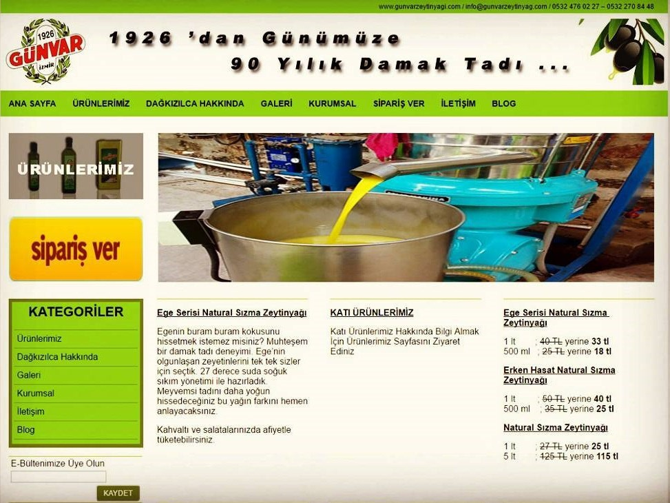 Gunvar Olive Oil's Business Web Site business mobile responsive bootstrap landing page front-end development website html css