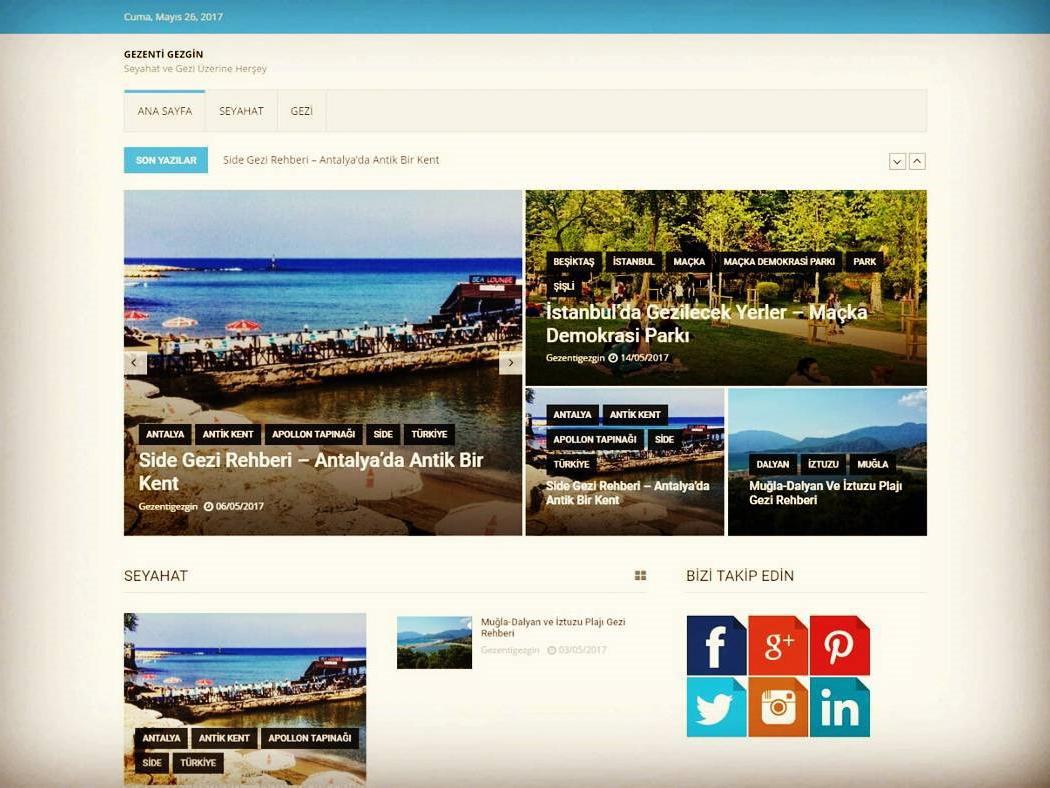 Gezenti Gezgin clean trip travel business desktop mobile responsive landing page website css wordpress