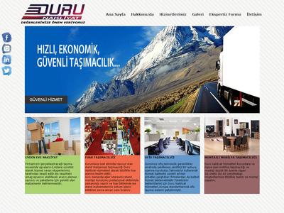 Duru Nakliyat's Web Site business desktop mobile responsive landing page front-end development website css html