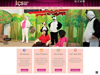 Istanbul Cocuk Sanat's Web Site mobile responsive front-end development website html css wordpress