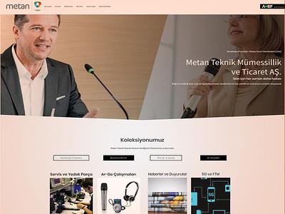Metan Technical's Web Site desktop landing page responsive business mobile front-end development website html css wordpress