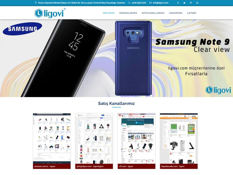 Ligovi Mobile Phone Accessoies's Web Site mobile desktop business responsive design front-end development css wordpress website