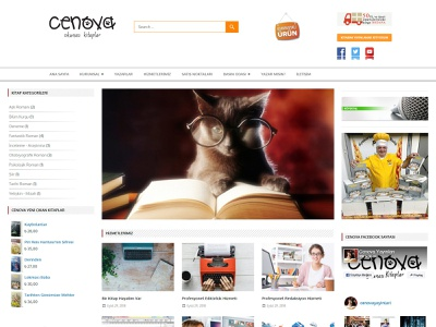 Cenova Publishing House's Web Site design front-end development responsive mobile webdesign publishing house bussiness landing page website css wordpress