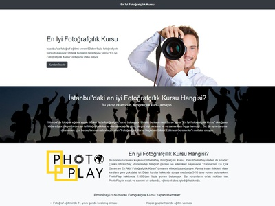 En iyi Fotoğrafçılık Kursu web design bootstrap desktop landing page business css html front-end development mobile website responsive