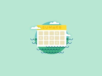 Summer Camp Schedule Icon