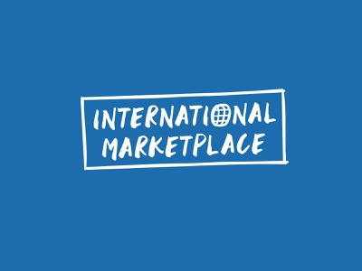 International Marketplace logo illustration logo supermarket fresh retail grocery food design