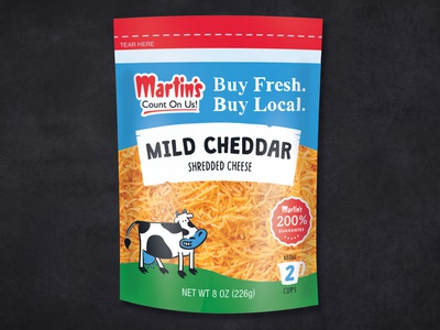 Martin's Cheese Packaging Redesign
