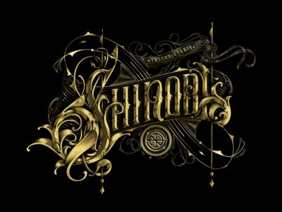 Shinobi Tattoo Studio vector illustration design handmade logo lettering craftsmanship typogaphy type typography