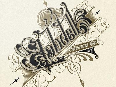Lobdell Design Co. - Vector vector typography donzorrito logo logotype lettering font