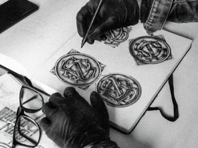 D+Z Monogram Sketches