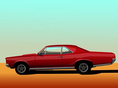 GTO vector illustration digital car