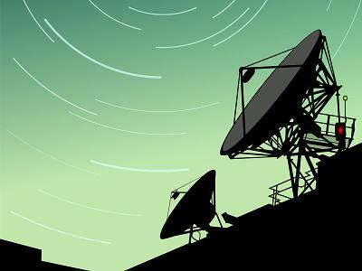 Satellite illustration vector digital space sci-fi cosmos