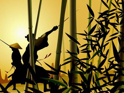 Bamboo illustration artwork art vector editorial