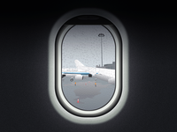 The Plane Out Of The Window On Rainy Days