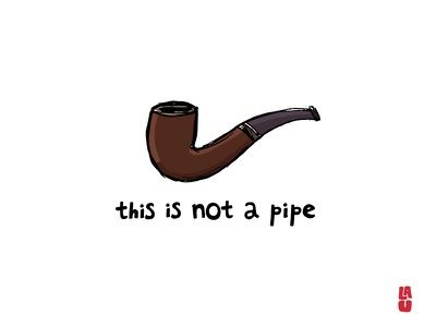 this is not a pipe sketch illustration surrealism magritte pipe