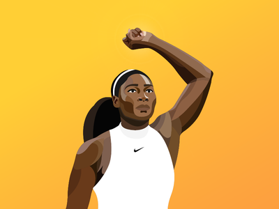 Serena wimbledon nike sports player illustrator vector illustration tennis serena williams