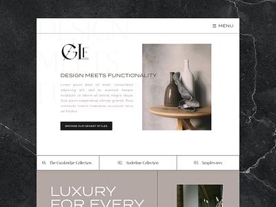 GLE Brand Site graphic design website branding illustrator flat minimal web ux design furniture store website furniture website