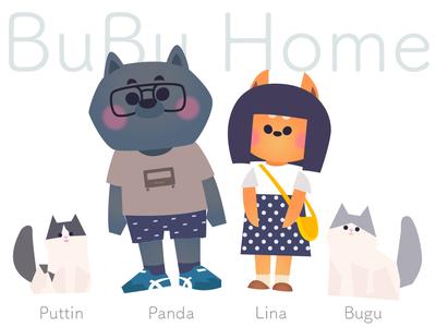 BuBu Home illustration dog cat