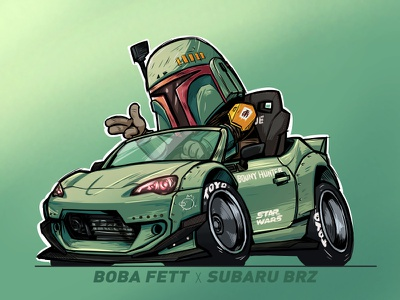 Boba Fett X Subaru BRZ fett boba starwars qstyle ai car