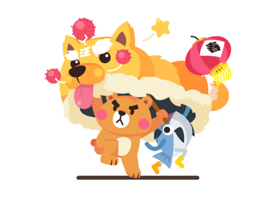 MrBear & MrFish (Spring Festival) liondance doge dog fish bear