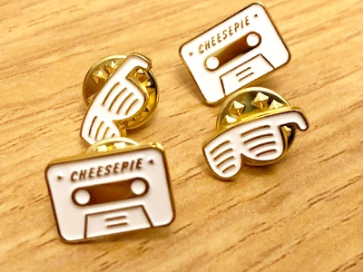 Tabe/3Dglasses Brooches glasses tape pin brooch