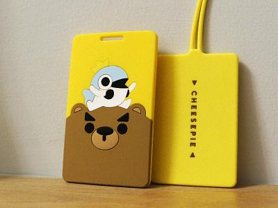 Mr Bear/Fish Cardcase case card silicone fish bear