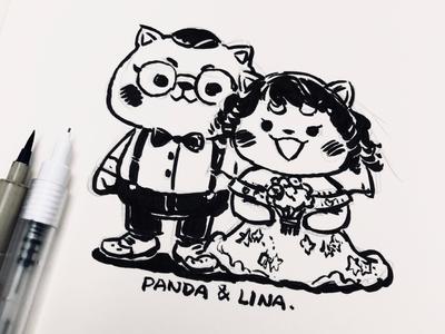 Panda & Lina's Wedding photo vol 02 (sketch)