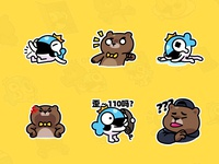 MrBear & MrFish wechat stickers Part.1