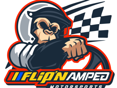 Flip'n Amped Motosports Sim Racing Team Logo