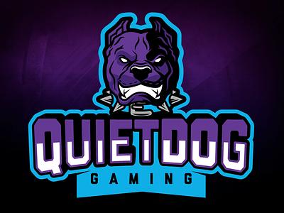 Quietdog Gaming esports mascot gaming esports mascot logo branding design illustrator illustration vector