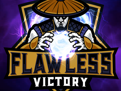 Flawless Victory eSports Logo esports mascot victory lightning illustrator illustration vector gaming mascot esports logo esports