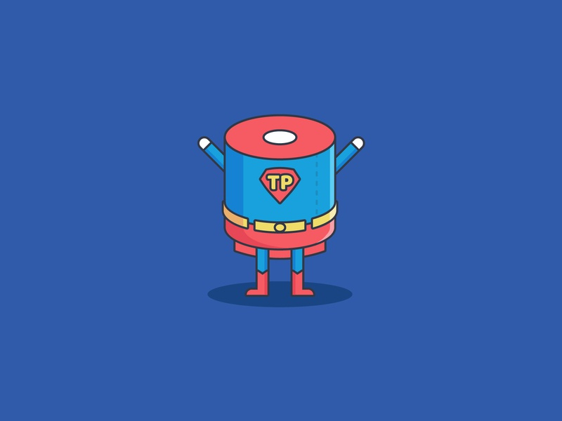 The Hero comic superman icon hero icon hero toilet paper roll