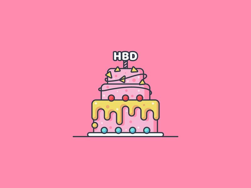 Happy Birthday birthday icon illustration flat illustration cake icon happy birthday icon