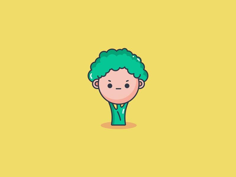 Broccoli La fun avatar fun character tree icon vegetable icon broccoli icon