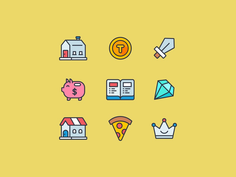 Icon Set Design game icon ui icon set icon design flat icon illustration