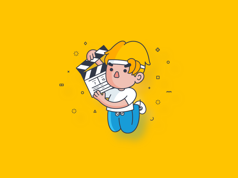 Be Your Own Life Director onboarding ui director icon film icon avatardesign icon design character design flat illustration illustration