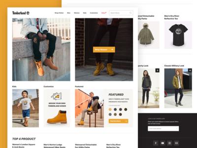 Timberland Website UI Redesign