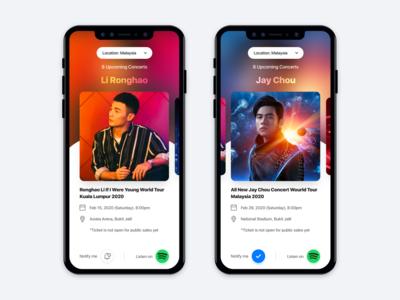 Concert App UI