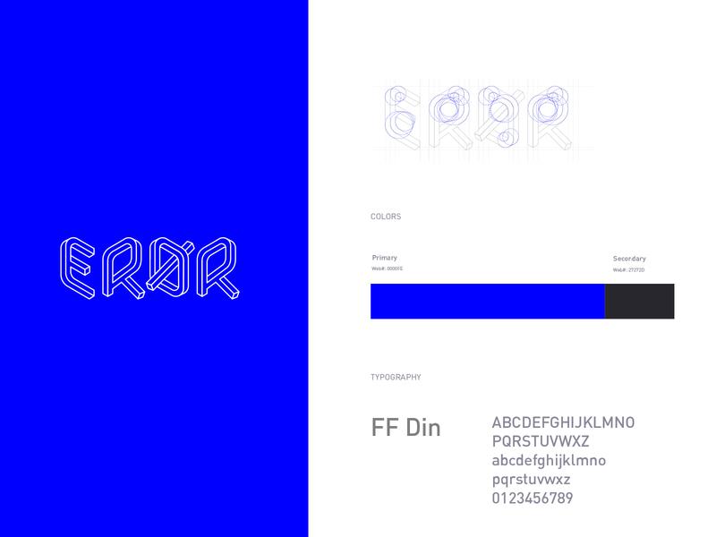 Eror logo branding typography logo brand