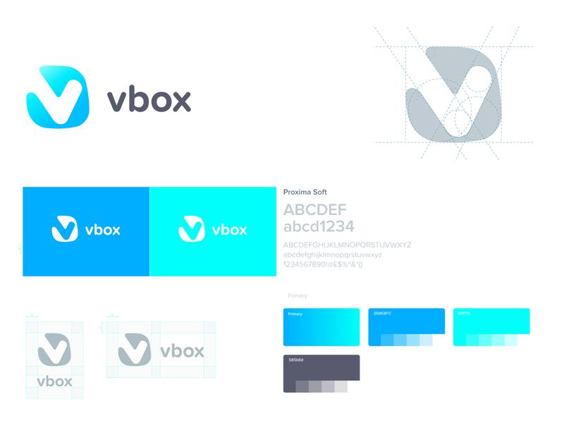 vbox app logo branding design typography brand logo